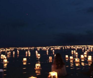 アラモアナビーチでメモリアルデーに開催される「灯篭流し」に行ってきました
