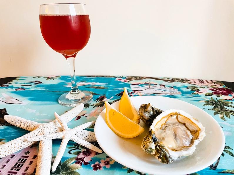 ハワイ産生牡蠣+カイルア産ビール