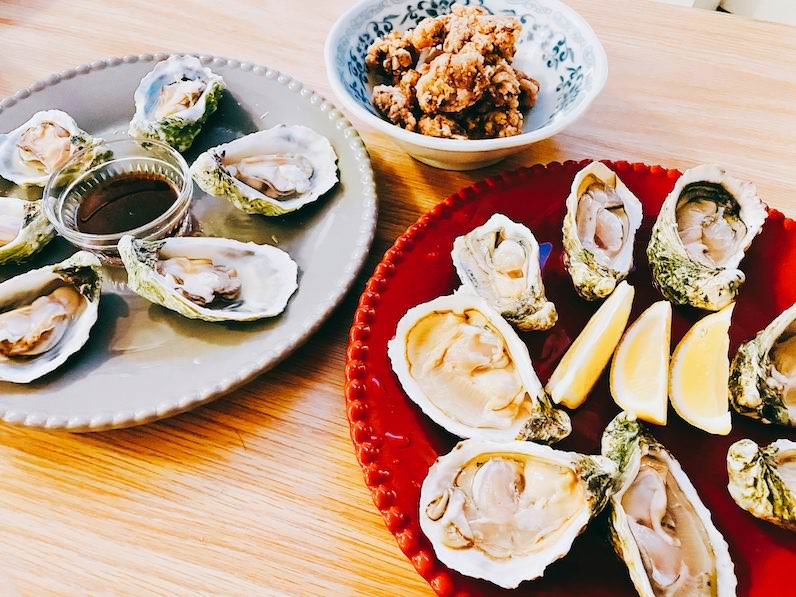 クアロアランチ生牡蠣、砂肝