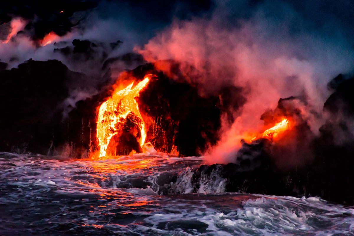 溶岩の中のペレ