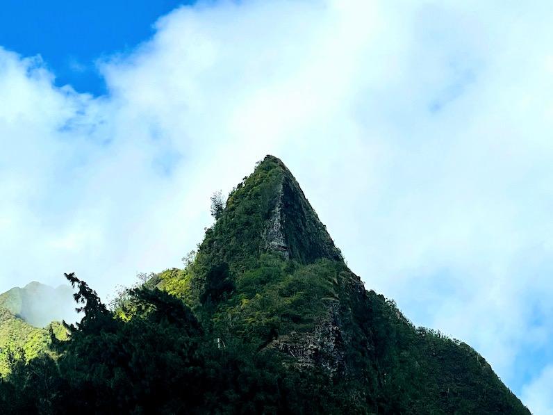 ヌアヌパリ展望台山の突端