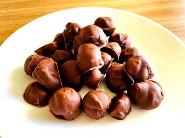 ハワイの知人宅でとれたマカデミアナッツをチョコでコーティングしてみたよ!