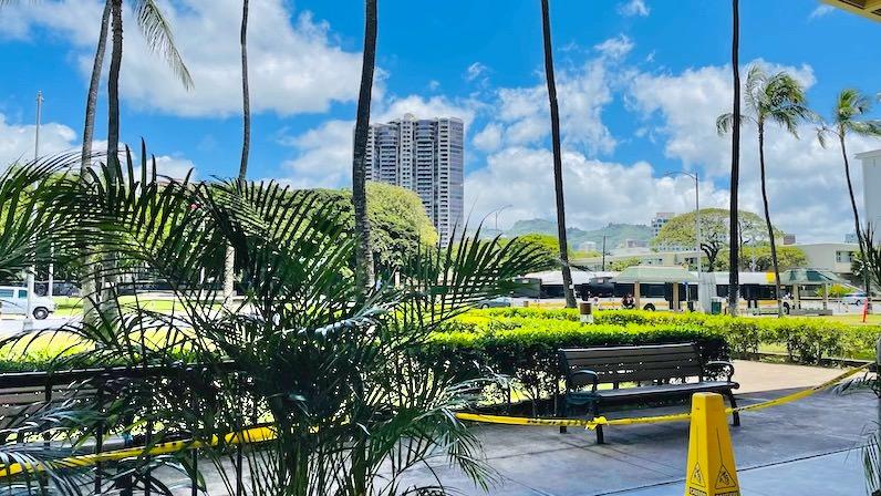 ハワイコロナワクチン接種会場待機場所