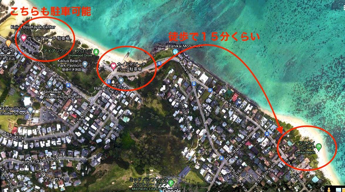 カイルアビーチ地図