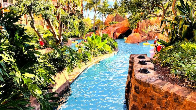 アウラニ・ディズニー・リゾートの流れるプール