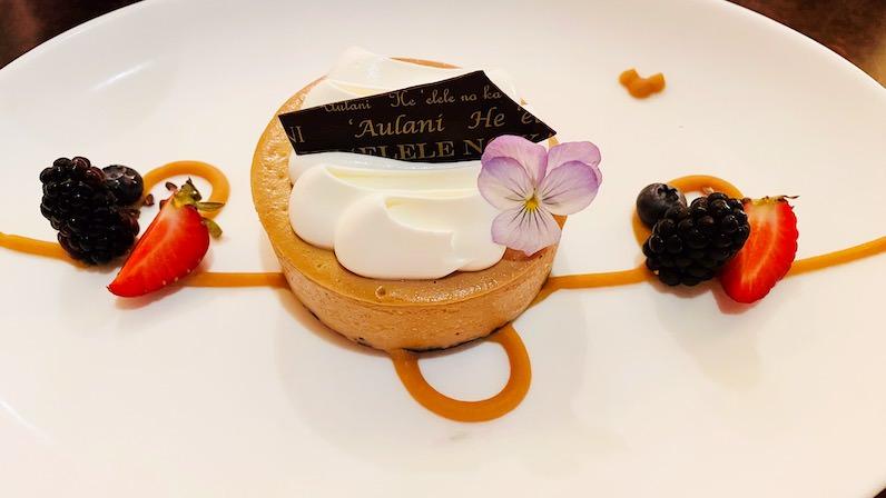 アウラニ・ディズニー・リゾートのレストラン「マカヒキ」のコナコーヒーチーズケーキ